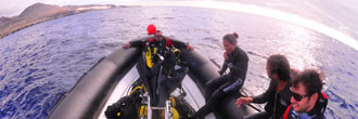 Our Scuba Diving Boat, 12 divers, fast RIB with marine radio and GPS